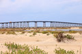 Herbert bonner bridge north carolina portion of the at oregon inlet in the outer banks of silhouetted against a summer sky Royalty Free Stock Image