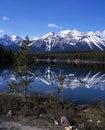 Herbert Lake, Alberta, Canada. Royalty Free Stock Photo