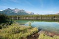 Herbert Lake panorama Royalty Free Stock Photo