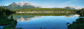 Herbert lake panorama banff national park canada Stock Image