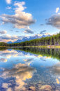 Herbert lake reflections canadian rockies Royalty Free Stock Image