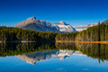 Herbert lake scenic on the icefields parkway banff national park Stock Photo