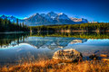 Herbert lake scenic on the icefields parkway banff national park Royalty Free Stock Image