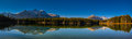 Herbert lake scenic on the icefields parkway banff national park Royalty Free Stock Images