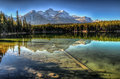 Herbert lake scenic on the icefields parkway banff national park Stock Images