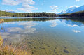 Herbert lake and whitehorn mountain banff national park alberta canada Stock Photography