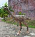Herbivorous dinosaurs statue in dinosaur park thailand Stock Images