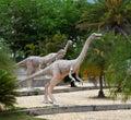 Herbivorous dinosaurs statue in dinosaur park thailand Royalty Free Stock Image