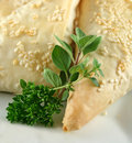 Herbs And Pastry Background Stock Image