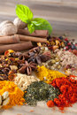 Herbs spices and teas Stock Photography