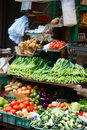 Herbs and vegetables at market Stock Photography