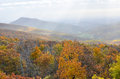 Herbstlaub in nationalpark shenandoah virginia united states Lizenzfreie Stockfotos