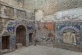 Herculaneum wall mosaic of neptune and amphitrite from Royalty Free Stock Photography