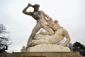 Hercules and Minotaur statue in Tuileries garden Royalty Free Stock Photo