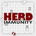 Herd Immunity Vaccine Puzzle Protect Community Society