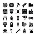 Photography and Graphics Glyph Vector Icons Pack