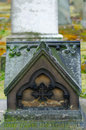 Here rest body message gravestone Stock Photos