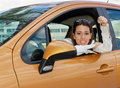 Here's the car keys Stock Image
