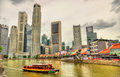 Heritage boat on the Singapore River Royalty Free Stock Photo
