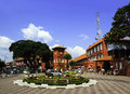 Heritage town in malacca malaysia Royalty Free Stock Photo