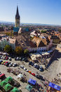 Hermannstadt aerial view sibiu the european capital of culture in Stock Image