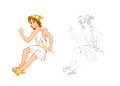 Hermes this illustration is messenger of greek god Royalty Free Stock Photography