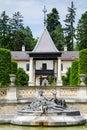 Hermesvilla in lainzer tiergarten vienna austria may courtyard landmarks famous place austria Stock Photo