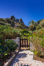 Hermigua valley in La Gomera island - Canary Royalty Free Stock Photography