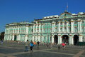 Hermitage in st petersburg the front view of museum saint russia Stock Image