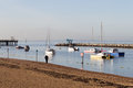 Herne bay harbor harbour on a beautiful calm autumnal evening Stock Images