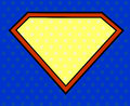 Hero shield in pop art style super Stock Images