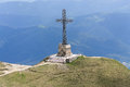 Heroes Cross on Caraiman Peak Royalty Free Stock Photo