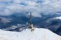 Heroes' Cross on Caraiman Peak Royalty Free Stock Photo