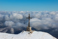 Heroes' Cross on Caraiman Peak Royalty Free Stock Photo