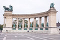 Heroes square in budapest hungary is one of the major attraction of with the past kings of Stock Photo