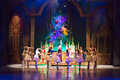 Heroes of tale The Nutcracker at the Christmas Tree Royalty Free Stock Photo