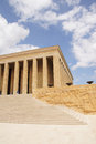 Heroic monumental architecture of ataturk mausoleum ankara turkey Royalty Free Stock Images