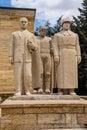 Heroic monumental statues guard the approach to ataturk mausoleum ankara turkey Stock Image