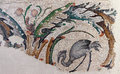Heron grazing in a marsh mosaic scene great palace istanbul turkey Stock Photography