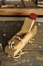 Herramienta vieja del carpintero Foto de archivo libre de regalías