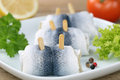Herring fish on a plate Royalty Free Stock Photo