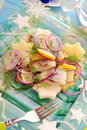 Herring salad with potato and apple Royalty Free Stock Photos
