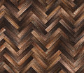 Herringbone natural dark parquet seamless floor texture Royalty Free Stock Photo
