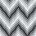 Herringbone pattern seamless in greys has three dimensional detail ai eps file colors are grouped for easy editing Stock Photography