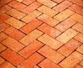 Herringbone Patterned Bricks Royalty Free Stock Image