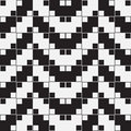 Herringbone weave optical illusion vector seamless pattern black and white background lines appear to tilt but image consists of Royalty Free Stock Image