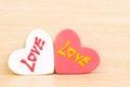 Herz mit liebe Stockbild