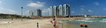 Herzliya beach panoramic view israel Royalty Free Stock Photo