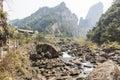 Hesheng brook this photo was taken in rock shiweiyan scenic area nanxi river scenic area yongjia county zhejiang province china Royalty Free Stock Images
