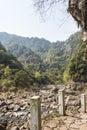 Hesheng brook this photo was taken in rock shiweiyan scenic area nanxi river scenic area yongjia county zhejiang province china Royalty Free Stock Image